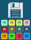 Magnetic floppy disc icon Stock Photo