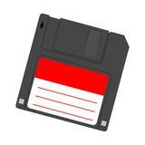 Magnetic floppy disc icon Royalty Free Stock Image