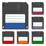 Magnetic floppy disc icon Stock Photography