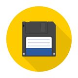 Magnetic floppy disc icon Stock Images