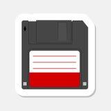 Magnetic floppy disc icon Stock Photo