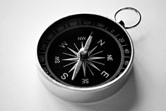 Magnetic handheld compass with copyspace Stock Photo