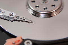 Magnetic head of the hard disk Stock Photography