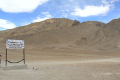 Magnetic Hill In Ladakh. Royalty Free Stock Photography