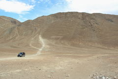 Magnetic Hill In Ladakh. royalty free stock photo