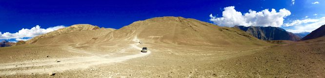 Magnetic Hill in Ladakh region, India royalty free stock image