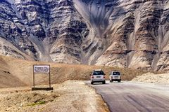 Magnetic Hill , leh, Ladakh, Jammu and Kashmir, India Royalty Free Stock Photo