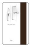 Magnetic hotel key card. Modern key card for hotel room door with magnetic strip and instructions Stock Photos
