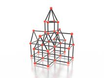 Magnetic  house Royalty Free Stock Image