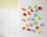Magnetic letters Stock Images
