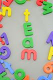 Magnetic Letters Stock Photos
