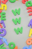 Magnetic Letters Royalty Free Stock Images