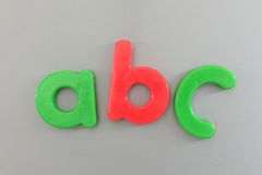 Magnetic Letters Stock Image