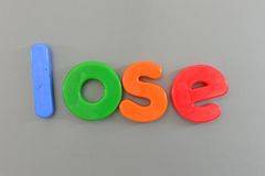 Magnetic Letters Stock Photography