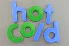 Magnetic Letters Stock Photo