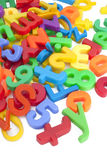 Magnetic letters and numbers Stock Photos