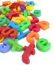Magnetic letters and numbers Stock Photography