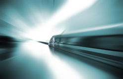 Magnetic levitation train. The fastest passenger train currently in service Stock Image