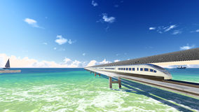 Magnetic levitation train # 1 Royalty Free Stock Photography