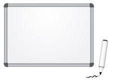 Magnetic marker board Royalty Free Stock Photography