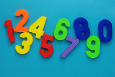 Magnetic numbers. Royalty Free Stock Image
