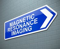 Magnetic Resonance Imaging concept. 3d Illustration depicting a sign with a Magnetic Resonance Imaging concept Stock Images
