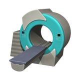 Magnetic Resonance Imaging Machine. 3D digital render of a mri or magnetic resonance imaging machine isolated on white background Stock Image