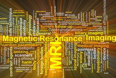 Magnetic resonance imaging MRI background concept glowing Stock Photography