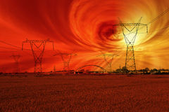 Solar storm Royalty Free Stock Photo