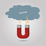 Magnetic success Stock Image