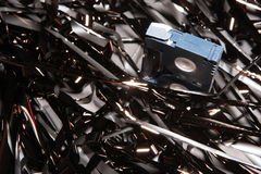 Magnetic tape. MiniDV tape on a magnetic band Stock Image