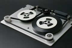 Magnetic tape. Opened backup tape Royalty Free Stock Photo