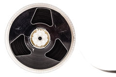 Magnetic tape reel isolated stock photo