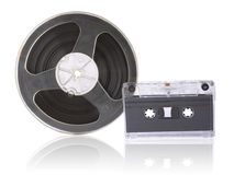 Magnetic tapes Stock Image