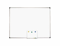 Magnetic Whiteboard isolated on white background. Boards isolated on white background with space for text Stock Image