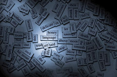 Magnetic Words Stock Photography