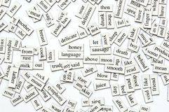 Magnetic Words Royalty Free Stock Photography