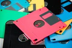 Magnetico a disco magnetico è un fondo Fotografie Stock