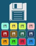Magnetisch floppy diskpictogram Stock Foto