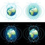 Magnetisch veld van Aarde Stock Afbeeldingen