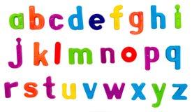 Magnetische alfabetbrieven royalty-vrije stock afbeelding