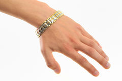 Magnetische armband Royalty-vrije Stock Foto