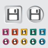 magnetisk diskett symbol för diskett Royaltyfri Fotografi