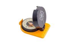 Magnetisk kompass för hand på en ljus bakgrund Royaltyfri Foto