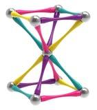 Magnetisk leksak för barn` s i form av ett timglas, inverterad pyramid, tolkning 3D vektor illustrationer