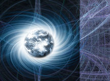 magnetiskt jordenergijordklot royaltyfria foton