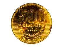 Magnetiskt mynt för 500 Colones Bank av Costa Rica Avers 2007 Fotografering för Bildbyråer