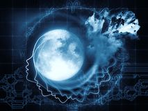 Magnetism Of The Moon Royalty Free Stock Images