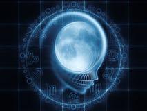 Magnetismo lunar Fotografía de archivo