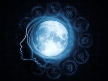 Magnetismo lunar Imagen de archivo libre de regalías